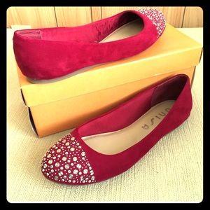 Studded Red Flats